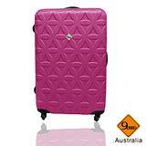 Gate9花花系列ABS霧面旅行箱行李箱拉桿箱登機箱24吋
