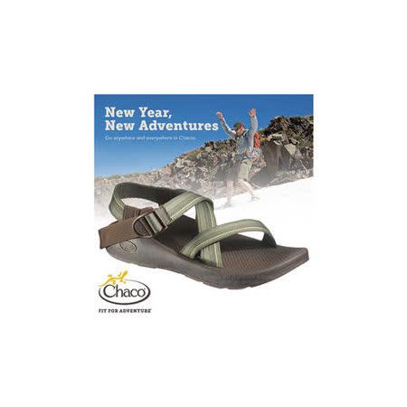 【美國 Chaco】男款 冒險旅遊涼鞋/戶外拖鞋.溯溪.海灘鞋/ CH-VYM01HA32(青澀年代)