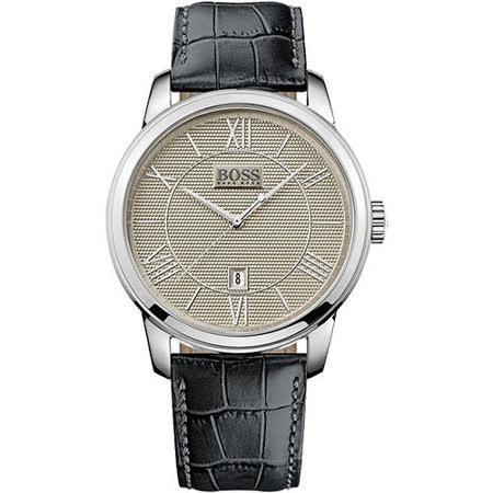 Hugo Boss 羅馬時尚復刻腕錶-灰x黑 H1512975