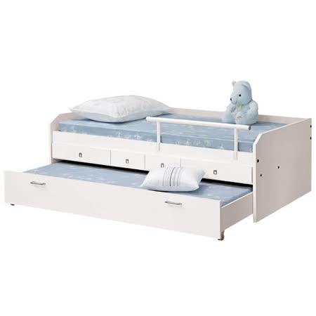 HAPPYHOME 艾麗兒3.3尺子母床177-2(只含床頭-床架-不含床墊-子床不可放床墊)