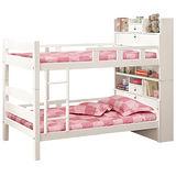 HAPPYHOME 洛克3.5尺白色功能雙層床195-1(不含床墊-只含床架-床頭)