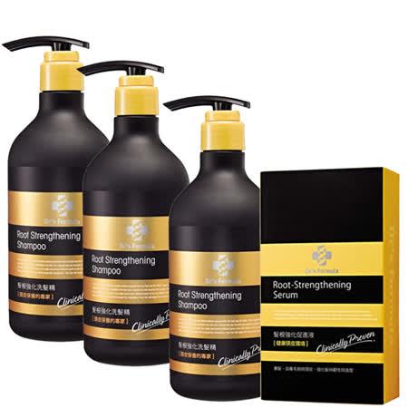 《台塑生醫》髮根強化洗髮精(580g*3入)+髮根強化促進液(70ml*1入)