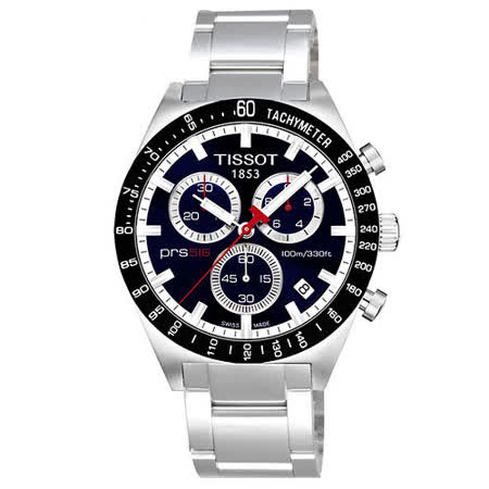 TISSOT PRS516 極速復刻石英腕錶-藍 T0444172104100