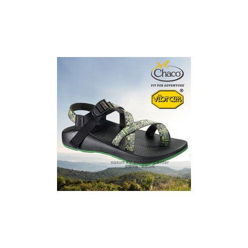 【美國 Chaco】男款 冒險旅遊運動涼鞋/戶外拖鞋.溯溪.海灘鞋 / CH-VYM02H134(機械綠)