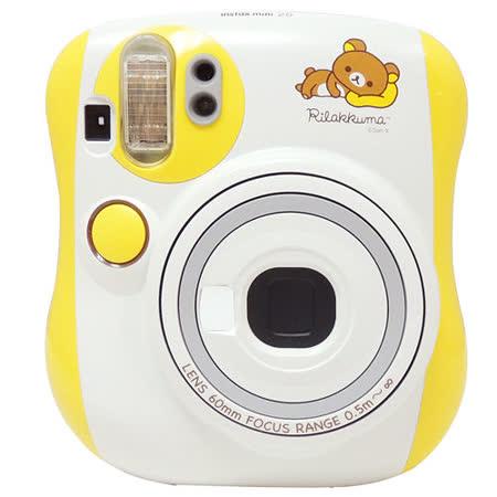 FUJIFILM Instax mini 25 拉拉熊拍立得相機(恆昶公司貨)-送空白底片+透明相框+底片透明保護套10入