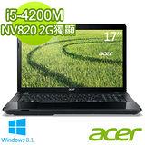 Acer E1-772G 17.3吋 i5-4200M NV820 2G獨顯 Win8.1強效筆電 (E1-772G-54204G1TMnsk01)