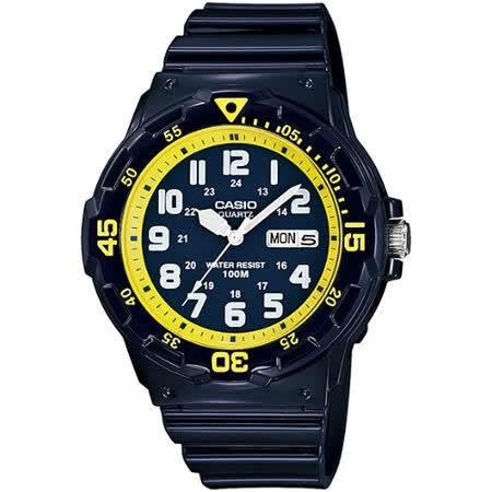 CASIO 玩色魅力潛水風格休閒運動錶(藍)MRW-200HC-2B