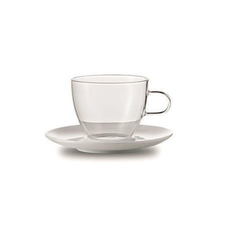 JENAER GLAS Cappuccino 咖啡杯含瓷碟2入
