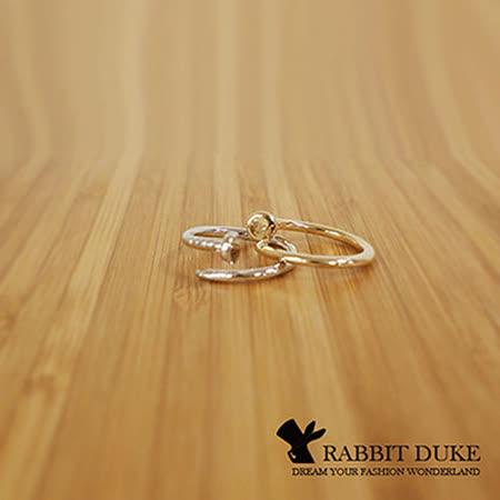 【Rabbit Duke】經典歐美風格 個性釘子造型設計戒指 來自星星的你 千頌伊同款