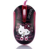 Hello Kitty晶彩LED閃動光學滑鼠-高貴黑