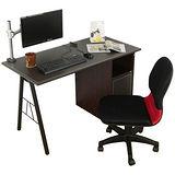 HAPPYHOME DIY波特皮面多功能電腦桌組SH-120C(桌子+螢幕架+椅子)