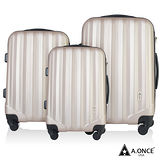 【A.ONE】閃耀之星ABS太空灰磨砂輕量三件套行李箱/登機箱
