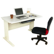 HAPPYHOME DIY4尺CD灰色辦公桌椅組Y94-6A