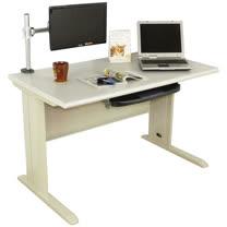 HAPPYHOME DIY4尺CD灰色辦公桌螢幕架組Y94-6B(桌子+螢幕架)