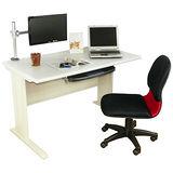 HAPPYHOME DIY4尺CD灰色多功能辦公桌組Y94-6C(桌子+螢幕架+椅子+鍵盤架)