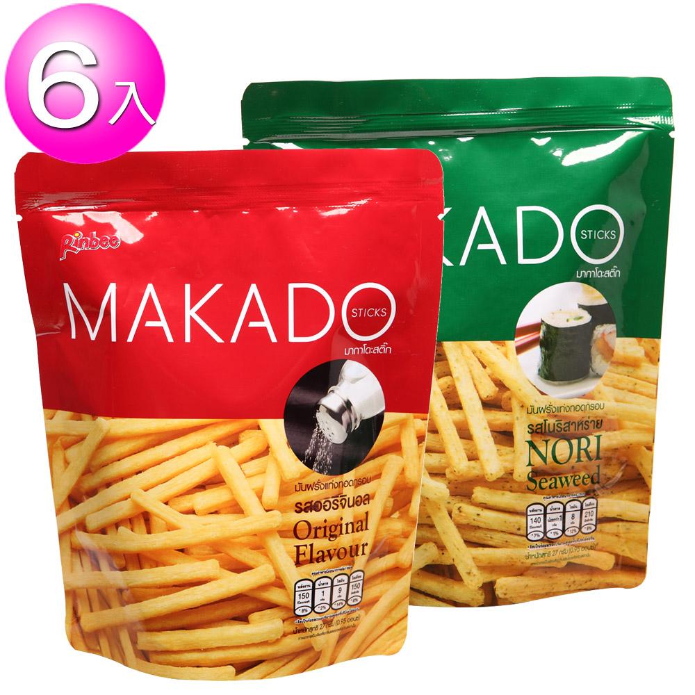 MAKADO薯條^(海苔鹽味^) 6包組 可