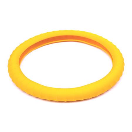 3D 矽膠方向盤套 - 黃