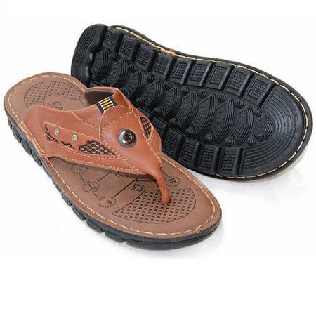【RAKASO涼鞋】款201淺棕真皮牛皮包頭露趾拖鞋人字拖海灘鞋沙灘鞋夾腳拖水陸兩用pangunoRAKASO諾喀索