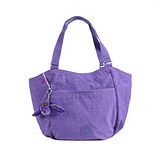 【Kipling】BASIC系列 前一口袋元寶型肩背兩用包 靚亮紫 K-374-5339-647