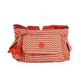 【Kipling】比利時品牌 BASIC系列 彎月側口袋小魔菇包 波浪紅 K-374-5340-032