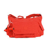 【Kipling】比利時品牌 BASIC系列 彎月側口袋小魔菇包 鮮紅 K-374-5340-143
