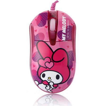 美樂蒂晶彩LED閃動光學滑鼠-愛心