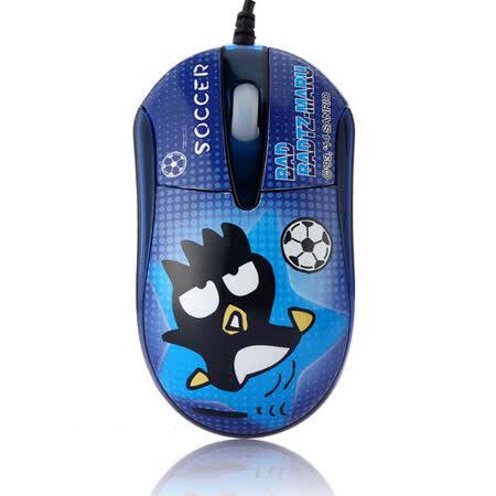 酷企鵝晶彩LED閃動光學滑鼠-足球
