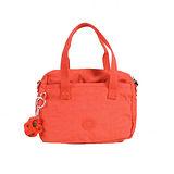 【Kipling】比利時品牌 BASIC系列 前拉鏈手提兩用小圓包 鮮紅 K-374-5321-143