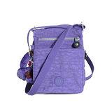 【Kipling】BASIC系列 直式三夾層肩斜背小包 靚亮紫 K-374-3732-647