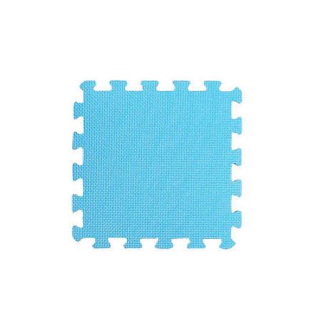 【新生活家】EVA抗菌地墊32x32x1cm - 活力藍/30入