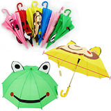【BabyTiger虎兒寶】超潑水-韓國熱銷款立體造型兒童自動傘(多款可選)