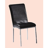 Augustin格紋皮餐椅496-10(黑)