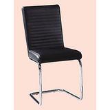 Jessy橫條紋皮餐椅496-12(白色)