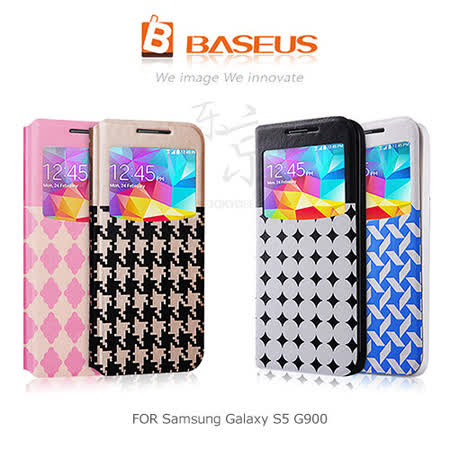BASEUS 東京的秘密 Samsung Galaxy S5 G900 開窗側翻皮套
