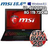 MSI微星 GE60 2PE 15.6吋 i7-4700HQ GTX860M 2G獨顯 Win8.1專業電競筆電