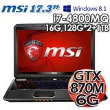 MSI微星 GT70 2PC 17.3吋 i7-4800MQ GTX870M 6G獨顯 Win8.1電競筆電
