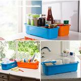 【PS Mall】糖果色多功能雙層廚房收納盒雙層抽屜盒(J114)