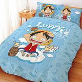 【享夢城堡】航海王 魯夫High翻天系列-雙人四件式床包涼被組