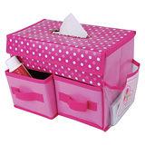 【PS Mall】雜物收納紙巾盒收納盒收納箱衛生紙盒(J101)