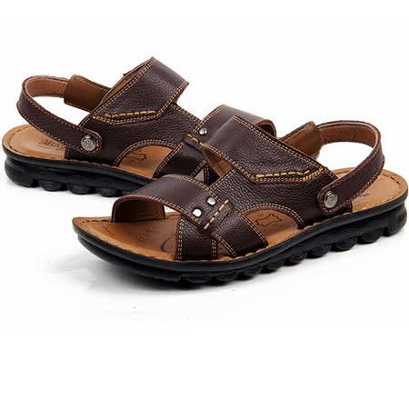 【RAKASO涼鞋】款8890紅棕真皮牛皮包頭露趾拖鞋人字拖海灘鞋沙灘鞋夾腳拖水陸兩用pangunoRAKASO諾喀索