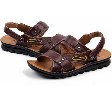 【RAKASO涼鞋】款8897紅棕真皮牛皮包頭露趾拖鞋人字拖海灘鞋沙灘鞋夾腳拖水陸兩用pangunoRAKASO諾喀索