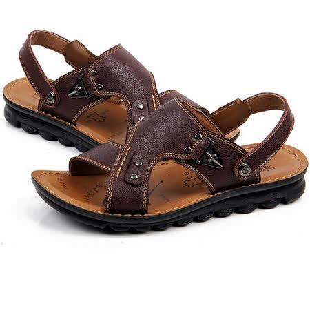 【RAKASO涼鞋】款8898紅棕真皮牛皮包頭露趾拖鞋人字拖海灘鞋沙灘鞋夾腳拖水陸兩用pangunoRAKASO諾喀索