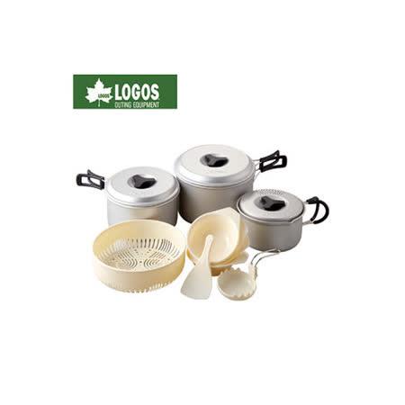 【日本LOGOS】Cooker 輕便型鍋具11件組.露營炊具組.附收納袋/81210204