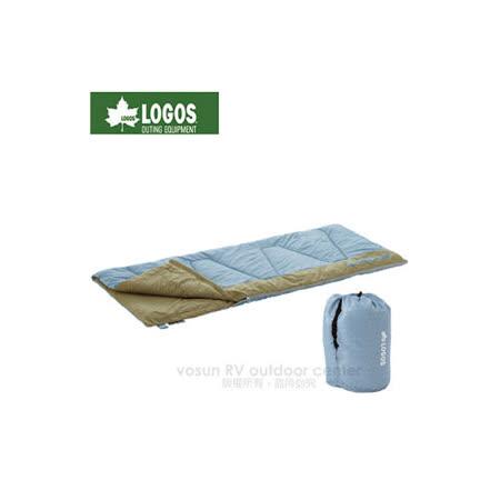 【日本LOGOS】寬80 ×長190cm 丸洗睡袋6℃.化纖可機洗睡袋/72600620 淺藍