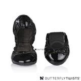 BUTTERFLY TWISTS -OLIVIA 可折疊扭轉芭蕾舞鞋-黑/漆皮黑
