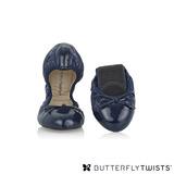 BUTTERFLY TWISTS -OLIVIA 可折疊扭轉芭蕾舞鞋-藍/海軍藍