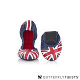 BUTTERFLY TWISTS -JACQUI 可折疊扭轉芭蕾舞鞋-藍/紅/白
