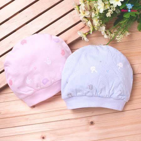 【聖哥-明日之星】嬰兒帽(薄、純棉)藍、粉色可選