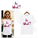 【韓系女衫】韓版休閒個性亮片字母設計 T恤