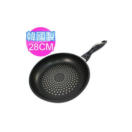 【私心大推】gohappy 線上快樂購[橫鋼] 韓國製超耐磨不沾鑽石平底鍋28cm價格遠 百 威 秀